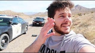 اقوى حادث وسط صحراء نيفادا من لاس فيقاس الى لوس انجلوس كالفورنيا..