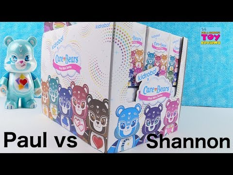 Paul vs Shannon Challenge Care Bears Kidrobot Opening | PSToyReviews