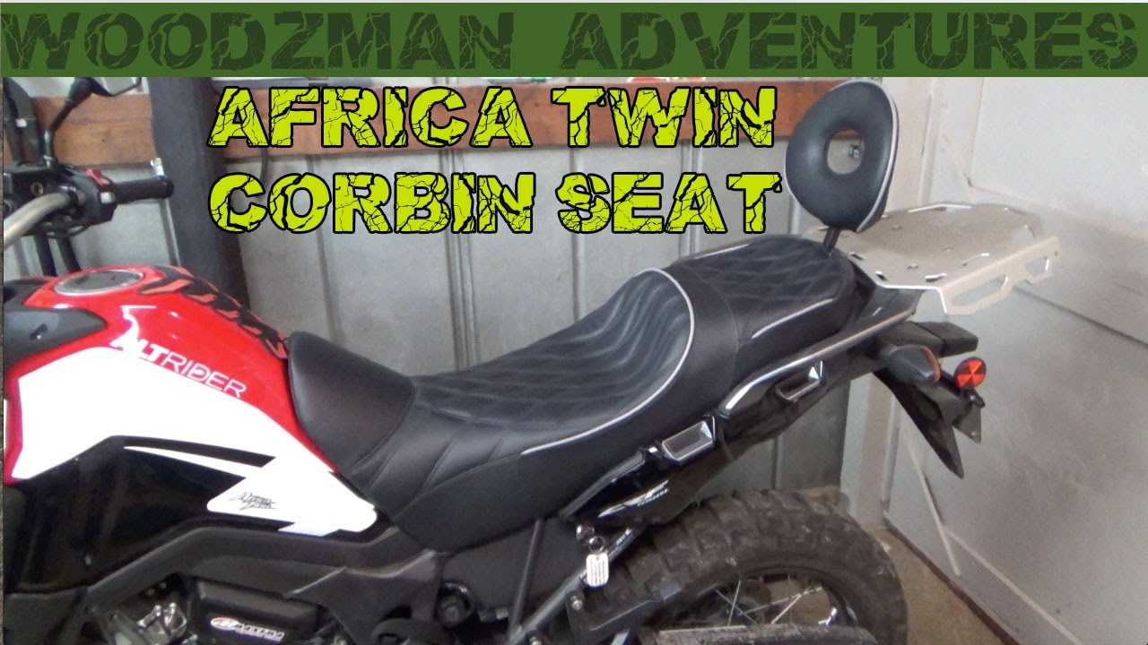 Honda Africa Twin Corbin Seat Install CRF1000L The Best Seat on the market ! - YouTube