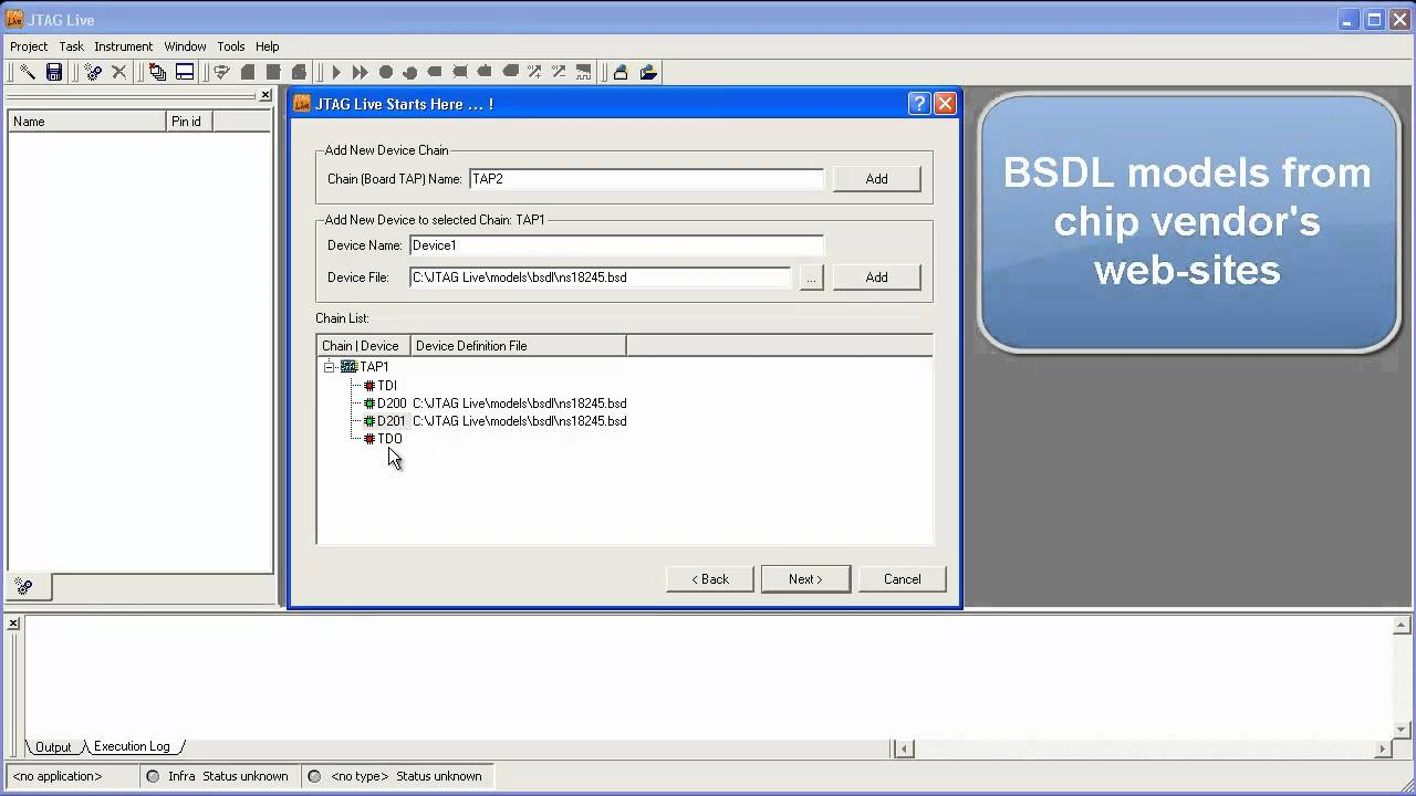 JTAG Live Part 1 - Testing the boundary-scan chain infrastructure