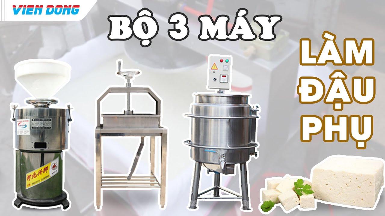 Cách làm đậu phụ (đậu hũ) đơn giản nhất với bộ máy xay- nấu- ép đậu