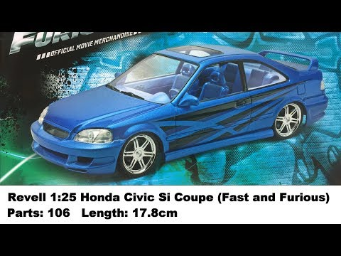 Revell 1:25 Honda Civic Si Coupe (Fast and Furious Edition) Kit Review