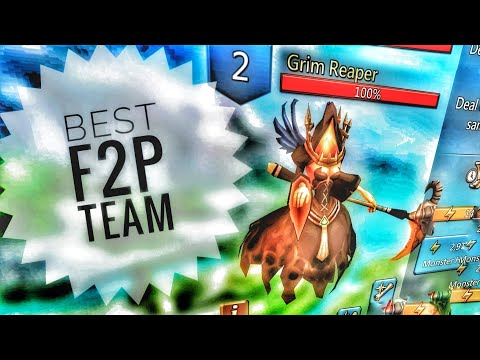Lords Mobile - Best F2P Grim Reaper Monster Hunting Team