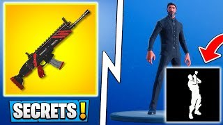 *ALL* Fortnite 5.4 Secrets! | Weapon Skins, New Emotes In Game! ( Update )
