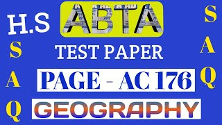 Download ABTA test paper | Geography SAQ | HS 2020 | Page AC 176