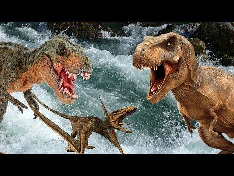 ЖИЗНЬ ДИНОЗАВРОВ!!! Сборник мультиков про динозавров: гиганотозавры, тираннозавры,  карнотавры и др