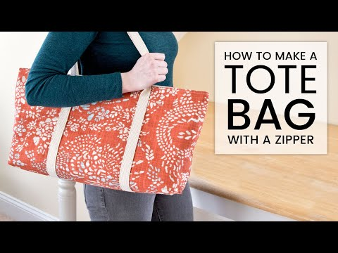 How to Make a Tote Bag with a Zipper | OFS Maker's Mill
