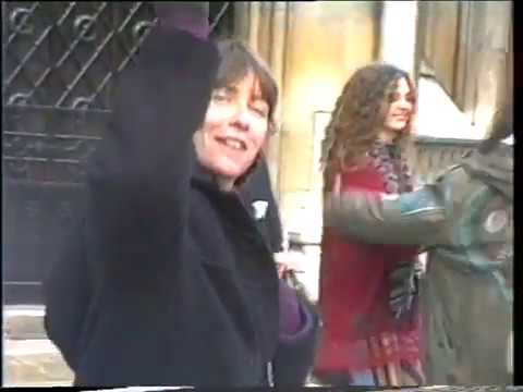 Rainbow Tribe outside Royal Courts of Justice, 1993