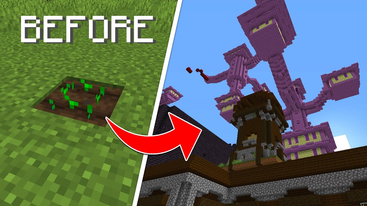 Download Minecraft, But You Can Grow Structures...