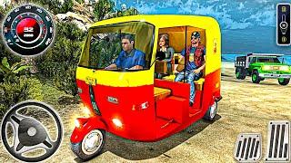 Auto tuk tuk rickshaw offroad driving games - heavy traffic Oil tankers - Android Gameplay screenshot 2