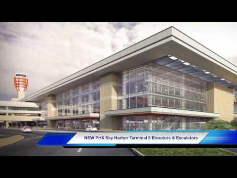NEW Phoenix Sky Harbor Terminal 3 Elevators & Escalators