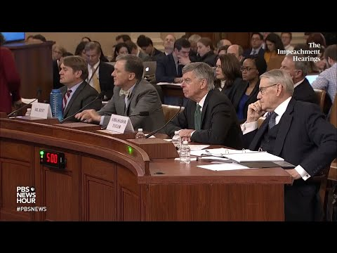 PBS NewsHour: WATCH: Rep. Chris Stewart's full questioning of George Kent and Bill Taylor