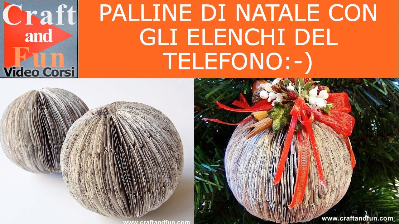 Popolare Palline di Natale fai da te con la carta degli elenchi telefonici  VL25