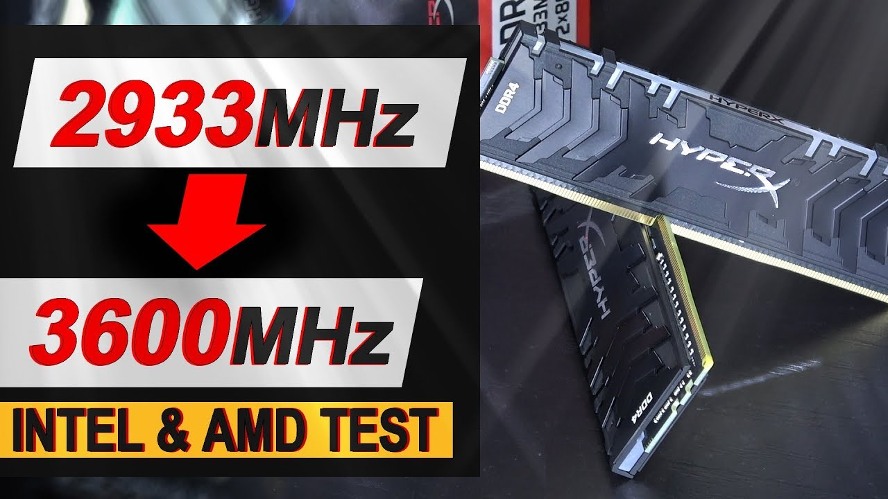 From 2933MHz to 3600MHz !! -- HyperX Predator RGB 16GB DDR4-2933