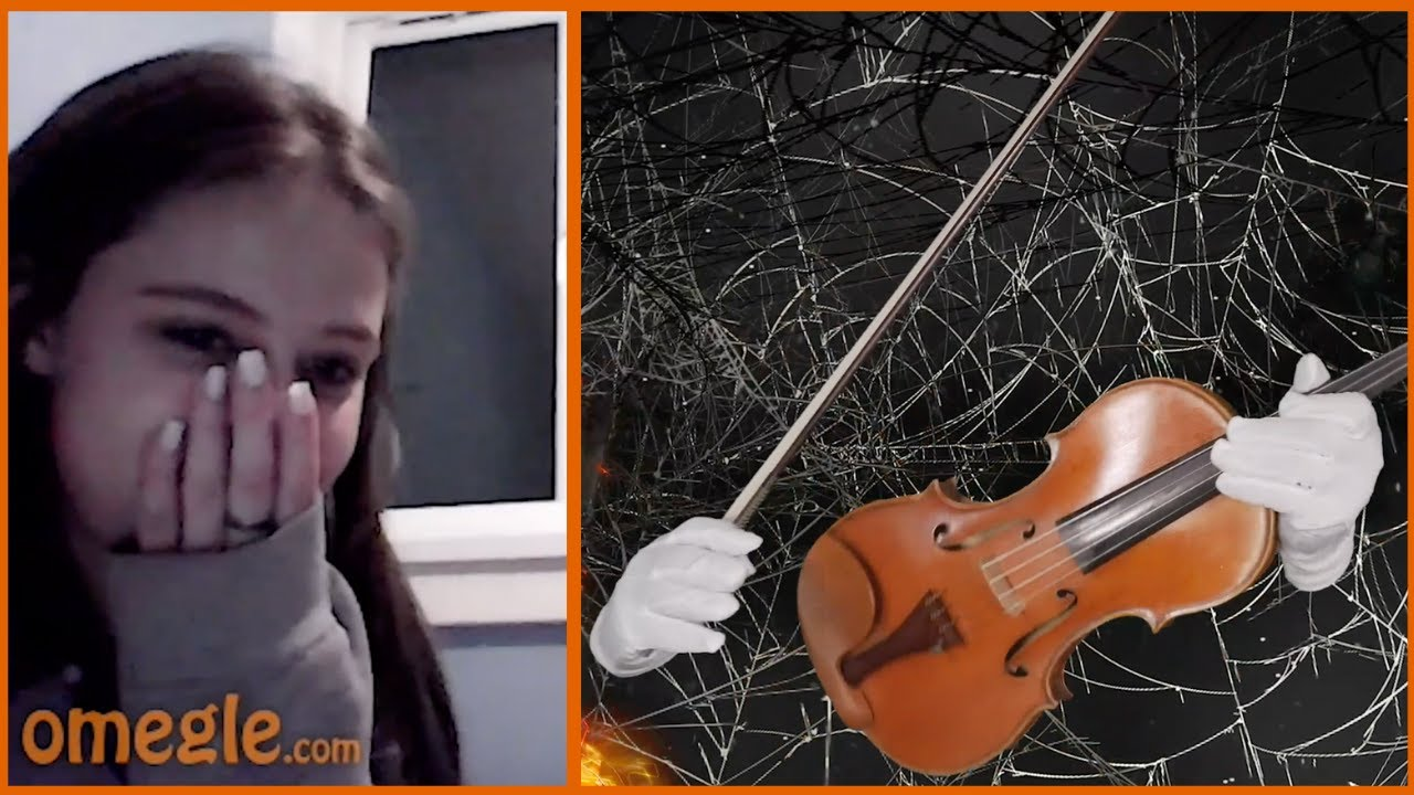 "FLOATING VIOLIN Plays ""Spooky Scary Skeletons"" on Omegle"