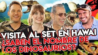 JURASSIC WORLD 2: Chris Pratt, Jeff Goldblum y Bryce Dallas en entrevista exclusiva