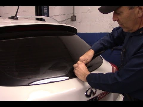 How to replace front and rear wiper blades on a 2010 Infiniti EX35