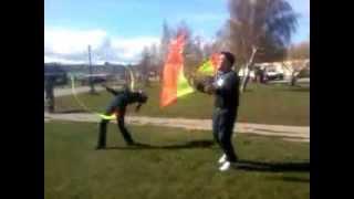 Practicando con banderas POI