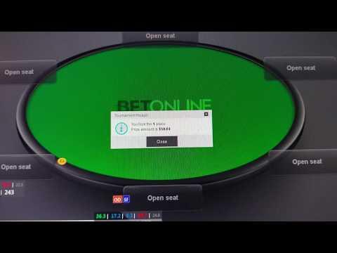 Занял первое место в онлайн турнире по покеру