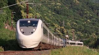 """特急「しらさぎ」681系 JR北陸本線 ダンロップカーブ Limited express """"Shirasagi"""", JR Hokuriku Main Line (2017.5)"""