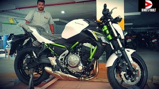 Kawasaki Z650 White Unboxing Taking Delivery #DinosVlogs