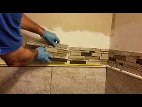 laying bathroom tiles how to install glass mosaic tile in bathroom shower part 13420 | hqdefault