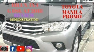 TOYOTA HILUX 4X4 G DSL AT 2018 | REVIEW | DEMONSTRATION