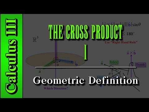 Calculus III: The Cross Product (Level 1 of 9) | Geometric Definition