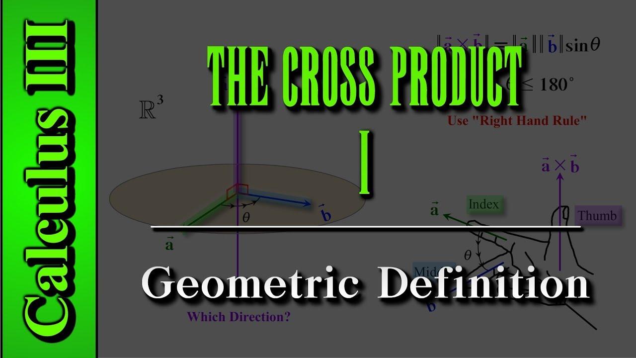 cross definition geometric level calculus iii