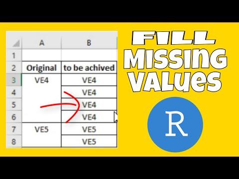 R Tidyverse Fill Missing Values
