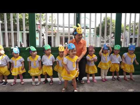 Trò chơi nhà trẻ SÓI ĐUỔI BẮT THỎ trường mầm non Hạnh Phúc