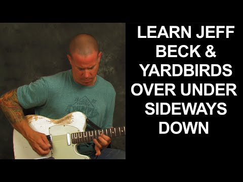Guitar song lesson learn Over Under Sideways Down by The Yardbirds with Jeff Beck