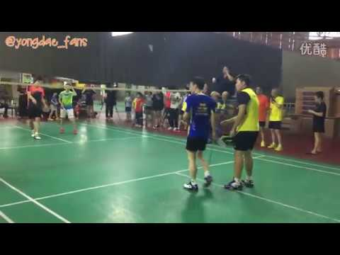 Lee yong dae  이용대 playing badminton with his fans different angle