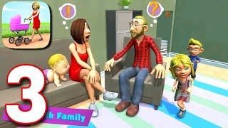 Mother Simulator : Virtual Happy Family Dream Gameplay Walkthrough Part 3   Baby Ride Horse Swing  