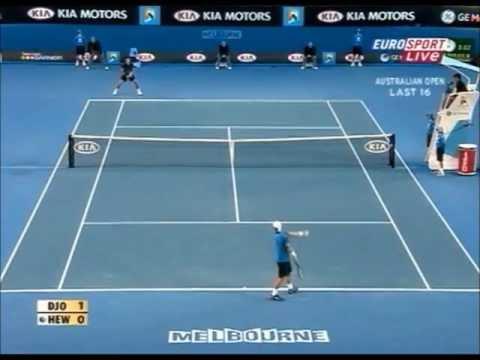Novak Djokovic vs Lleyton Hewitt Australian Open 2008 Highlights