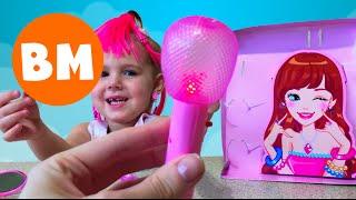 ВМ: Салон красоты для девочек, собираем на концерт певицу | Unboxing Beauty Set Girl Accessories