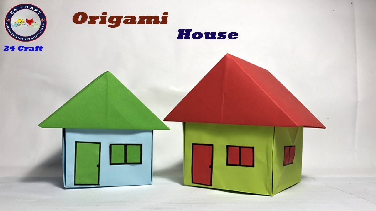 How to Make an Origami House (EASY) - YouTube | 720x1280