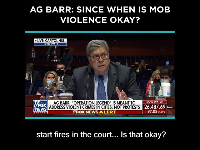 AG Barr: Since When is Mob Violence Okay?