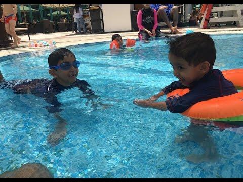 Dubai Holiday - Fun at the Pool & Beach, Hilton Dubai Jumeirah Resort