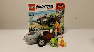 Lego Angry Birds Movie Piggy Car Escape Review! Set #75821
