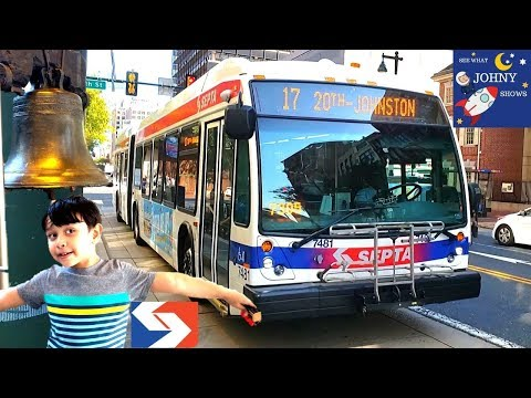 Johny's SEPTA Articulated Bus Ride To Liberty Bell In Philadelphia
