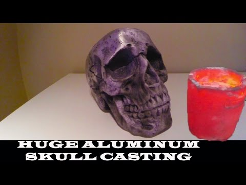 MASSIVE Aluminium Skull casting - Biggest on YOUTUBE??