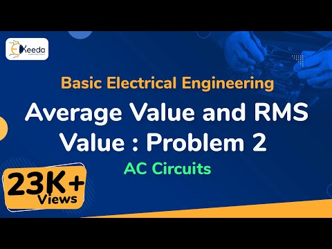 Problem No. 2 how to calculate  Average Value & RMS Value in  AC Circuit