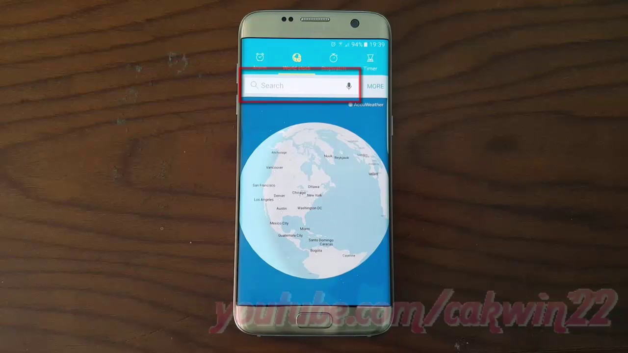 Samsung Galaxy S7 Edge : How to Find World Clock (Android Marshmallow)