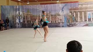 Спортивная акробатика. Новосибирск. Программа 1 взрослого разряда. Баланс. Софья и Арина.