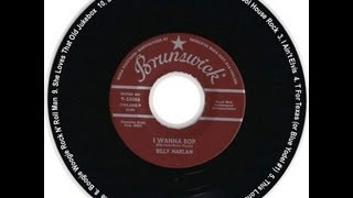BILLY HARLAN ~ I WANNA BOP / SCHOOL HOUSE ROCK A- & B side