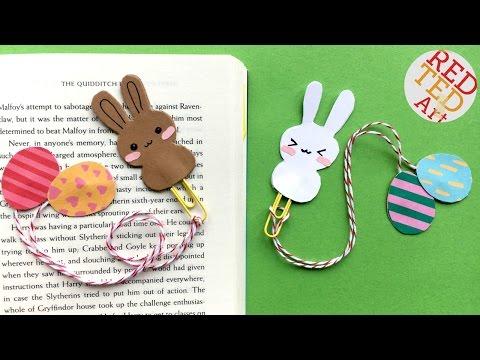 Easy Bunny Bookmark Easter - DIY Bookmarks - Kawaii DIY