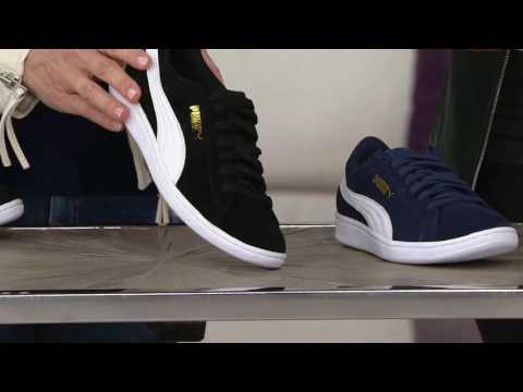 PUMA Metallic or Suede Lace-up Sneakers