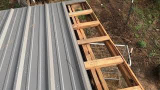 Installed a Metal Roof on the Goat Barn, Lessons Learned