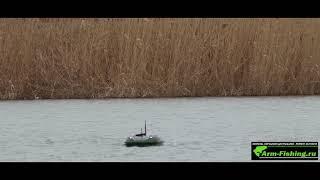 Работа эхолота Lucky ff918 CWL в кораблике CARPBOAT CARBON